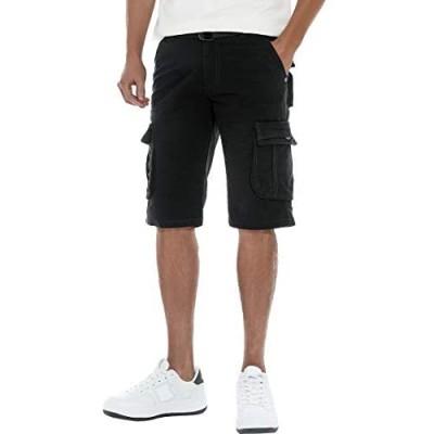 FoxQ Men's Cargo Shorts Summer Casual Classic Loose Premium Cotton Multi-Pockets