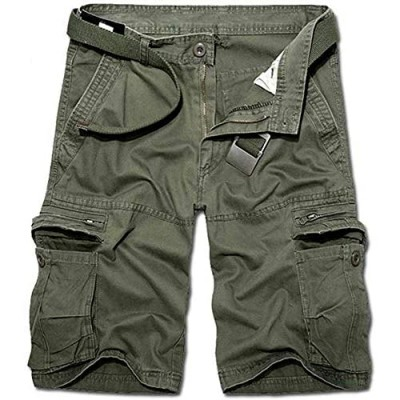 KOCTHOMY Men's Summer Relaxed Fit Outdoor Cargo Shorts