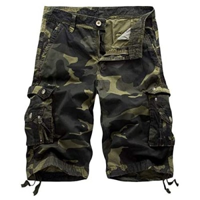 Men's Relaxed Fit Cargo Short Lightweight Classic Fit Multi-Pocket Outdoor Premium Casual Short Big and Tall Sizes