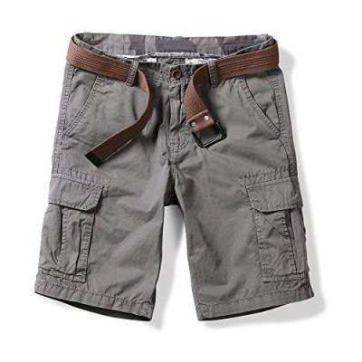 OCHENTA Men's Lightweight Multi Pockets Casual Cargo Shorts