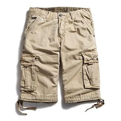 OCHENTA Men's Loose Fit Multi Pocket Cargo Shorts