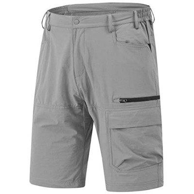 Rdruko Men's Relaxed Fit Cargo Shorts Quick Dry Lightweight Work Golf Casual Shorts 5 Pockets
