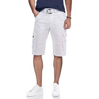 """X RAY Mens Tactical Bermuda Cargo Shorts Camo and Solid Colors 12.5"""" Inseam Knee Length Classic Fit Multi Pocket"""