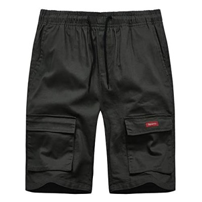 ZITY Mens Cargo Shorts Classic Relaxed Fit Stretch Shorts
