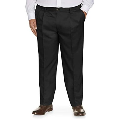 Essentials Men's Big & Tall Classic-fit Wrinkle-Resistant Pleated Dress Pant fit by DXL