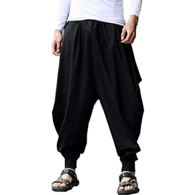 ONTTNO Men's Floral Stretchy Waist Casual Ankle Length Pants