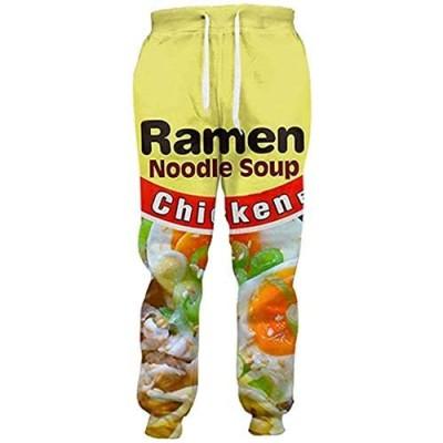 3D Ramen Chicken Noodle Soup Beef Pant Food Funny Trousers Men Women Cotton Novelty Pants