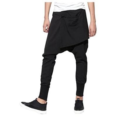 ellazhu Men Casual Elastic Waist Harem Pants Joggers Trousers GYM109