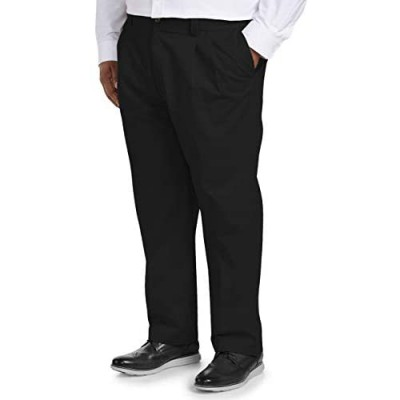 Essentials Men's Big & Tall Loose-fit Wrinkle-Resistant Pleated Chino Pant