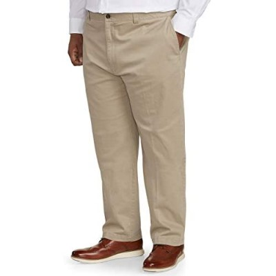 Essentials Men's Big & Tall Relaxed-fit Casual Stretch Khaki Pant fit by DXL fit by DXL