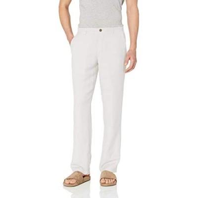 Essentials Men's Classic-fit Flat-Front Linen Pant