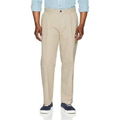 Essentials Men's Classic-fit Wrinkle-Resistant Pleated Chino Pant