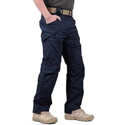 LABEYZON Men's Outdoor Work Military Tactical Pants Lightweight Rip-Stop Causal Cargo Pants Men