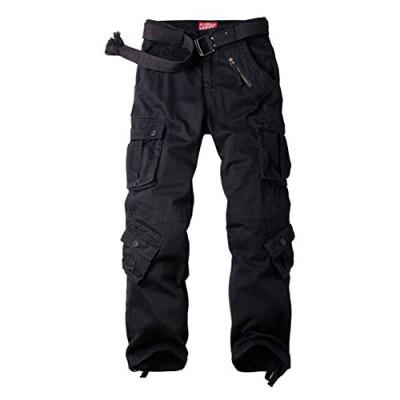SIGAWN Military Pants Casual Cargo Pants Black Work Pants with 8 Pockets Outdoor Hiking Pants Tactical Pants