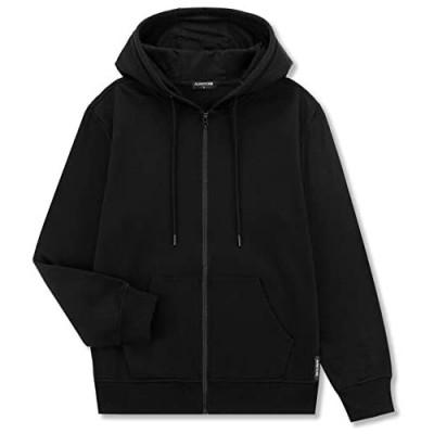 ALWAYSONE Men's Soft Fleece Hooded Sweatshirt with Pocket Casual Zip up Athletic Hoodie Size S-3XL