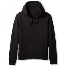 Essentials Men's Big & Tall Full-Zip Hooded Fleece Sweatshirt fit by DXL