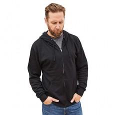 Klothwork Men's Lightweight Full Zip HoodieLong Sleeve Hooded Sweatshirt
