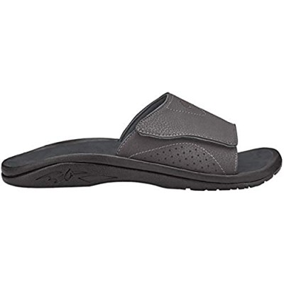 OLUKAI Mens Nalu Slide Slip On Open Toe Sport Sandals