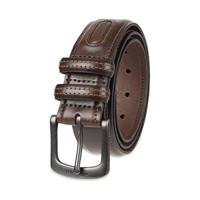Columbia Men's Double Loop Belt-Casual Dress with Single Prong Buckle for Jeans Khakis