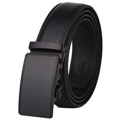 Lavemi Men's Real Leather Ratchet Dress Belt with Automatic Buckle Elegant Gift Box