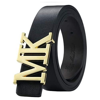 Maikun Mens Dress Leather Belt Plaque Buckle 35mm Width For Father's Day