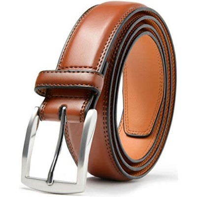 Mark Fred Men's Genuine Leather Dress Belt Handmade 100% Cow Leather