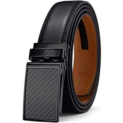 Mens Belt Bulliant Designer Click Genuine Leather Ratchet Belt For Men Size-Customized