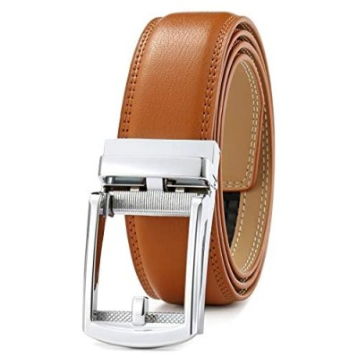 Men's Belt Ratchet Dress Belt with Automatic Buckle Brown/Black-Trim to Fit-35mm wide