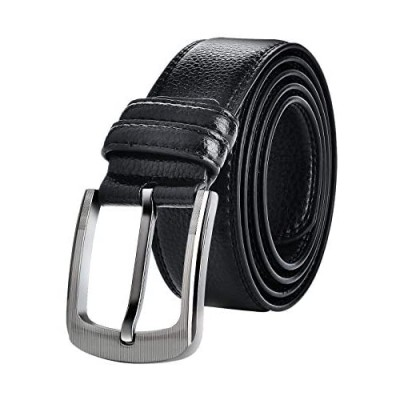 "Mens Belts Big and Tall 36""-70"" Men Leather Belt Casual Work Dress Belt Black & Brown Colors"