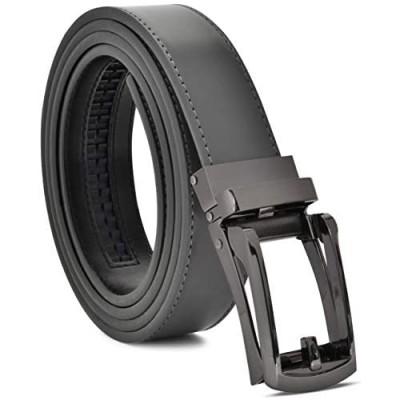Ratchet Belt Men's Belt Genuine Leather Custom Fit Automatic Buckle No Hole