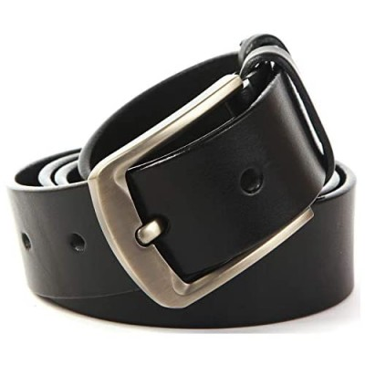 Solid Leather Goods Men's Belt - Full Grain Heavy Duty Leather Belts for Men