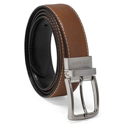 Steve Madden Men's Dress Casual Every Day Reversible Leather Belt