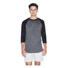 American Apparel 50/50 Raglan 3/4 Sleeve T-Shirt 2-Pack