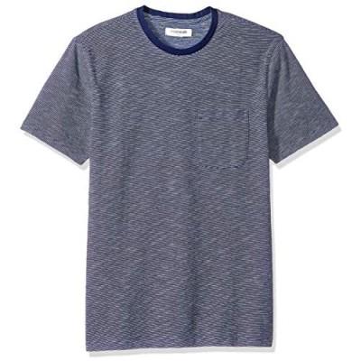 Brand - Goodthreads Men's Short-Sleeve Indigo Crewneck Pocket T-Shirt