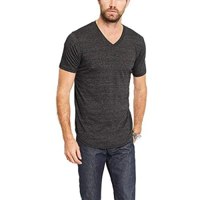 GOODLIFE Men's Tri-Blend Scallop V-Neck T-Shirt | Lightweight and Breathable Cotton Made in The USA