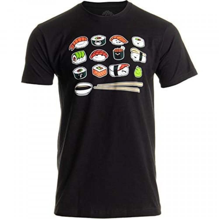 Happy Sushi | Funny Cute Fun Japanese Food Go Rice Art for Men Women T-Shirt