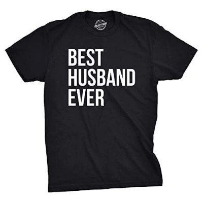 Mens Best Husband Ever T Shirt Funny Saying Novelty Tee Gift for Dad Cool Humor
