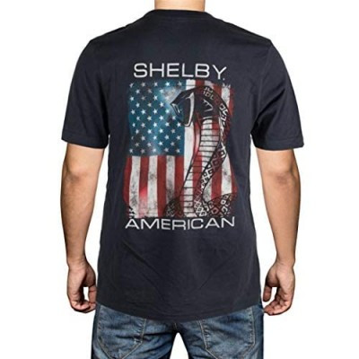 Shelby Patriotic Flag Dark Grey Tee T-Shirt | Officialy Licensed Shelby Product | 100% Cotton