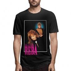 Steven Crain Reba-McEntire Fancy Mens Tees Fation Women Loose Short-Sleeved T-Shirt Black