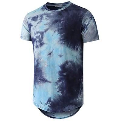 WEMELY Men Tie-dye Style T-Shirts Hip Hop Tops