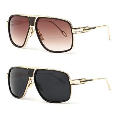 AEVOGUE Sunglasses For Men Goggle Alloy Big Frame Metal Punk Style Shield AE0336