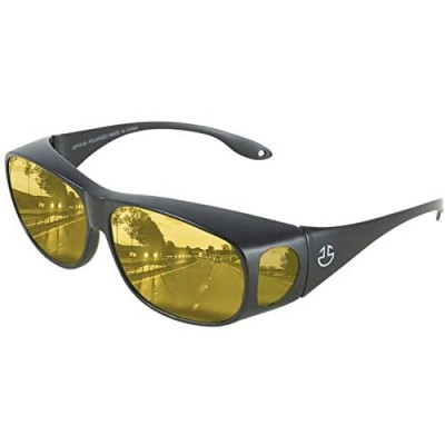 HD Day / Night Driving Glasses Fit Over Sunglasses for Men & Women - Anti Glare Polarized Wraparounds
