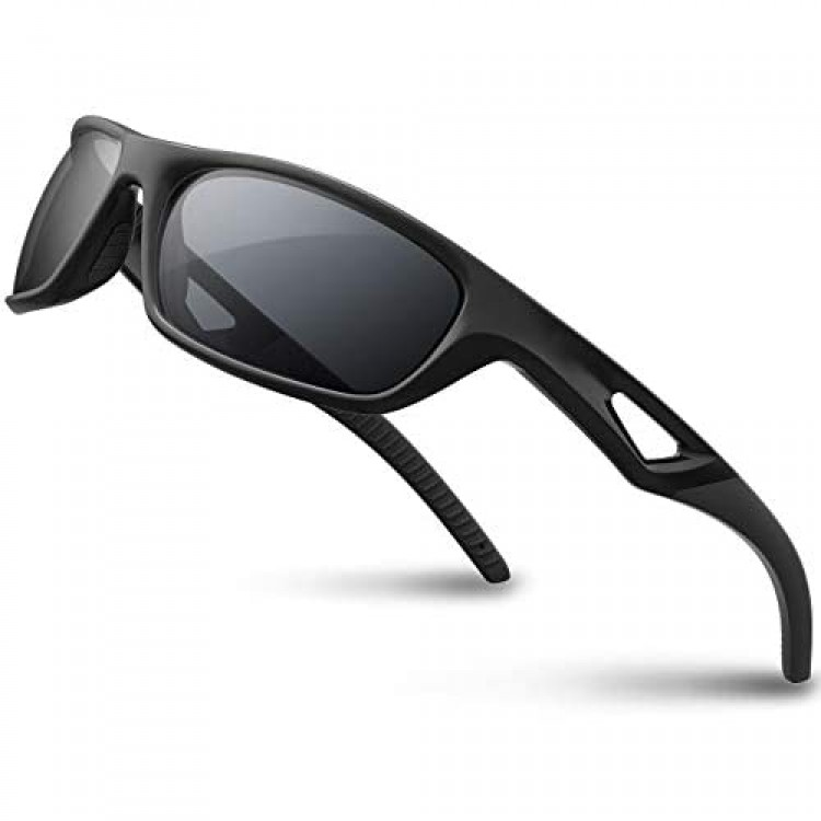 RIVBOS Polarized Sports Sunglasses Driving shades For Men TR90 Unbreakable Frame RB831