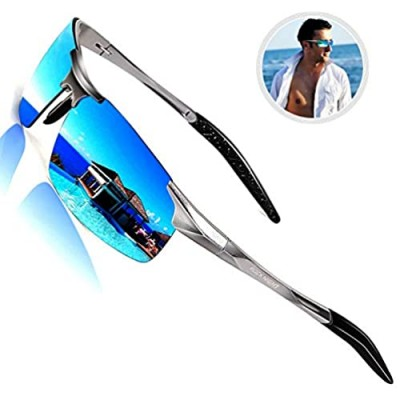 ROCKNIGHT Driving HD Polarized UV Protection Ultra light Al-Mg Golf Fishing Sports Sunglasses