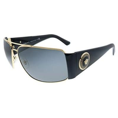 Versace VE 2163 100287 Gold Metal Aviator Sunglasses Grey Lens
