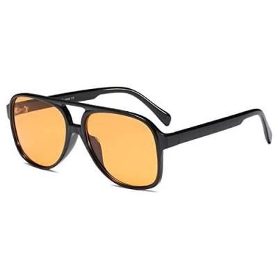YDAOWKN Classic Vintage Aviator Sunglasses for Women Men Large Frame Retro 70s Sunglasses
