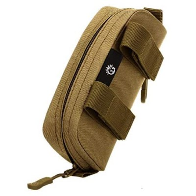 Eyeglasses Hard Case Anti-Shock Molle System Zipper Sunglasses Pouch Sunglasses Bag Cases Eye Glasses Box Holder with Clip