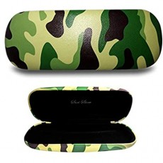 Suri Store Eyeglasses Hard Case Camo Cactus Printed Cute Clamshell Protective Holder C L6.1 W2.4 H1.5inch