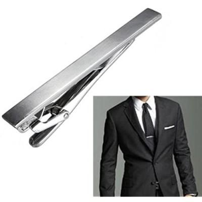 Elandy Men Metal Silver Tone Simple Necktie Tie Bar Clasp Clip Best Xmas Gift
