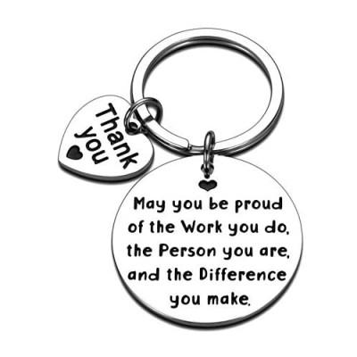 Appreciation Gifts for Coworkers Keychain Boss Lady Friends Leader Employee Farewell Boss Day Gift Birthday Inspirational Key Chain for Nurse Teacher Social Worker Volunteer Women Men Keyring